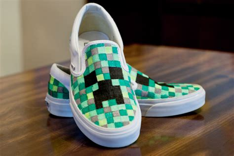diy custom shoes diy minecraft shoes