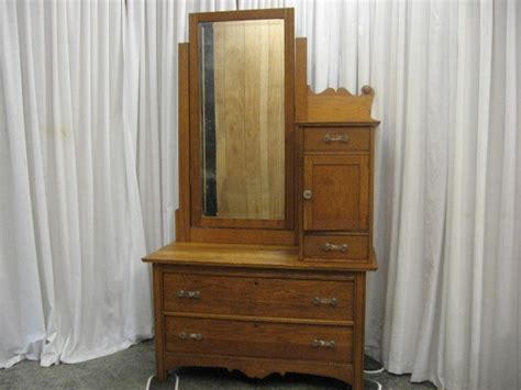 antique dresser with mirror value antique 70 oak dresser side mirror w hat compartment for