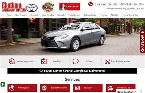 Chatham Parkway Toyota Responsive Websites Chatham Parkway Toyota S Success