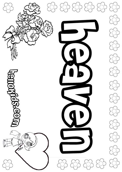 heaven coloring pages hellokids com