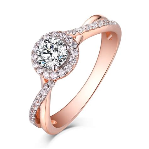 cut rose gold  sterling silver white sapphire
