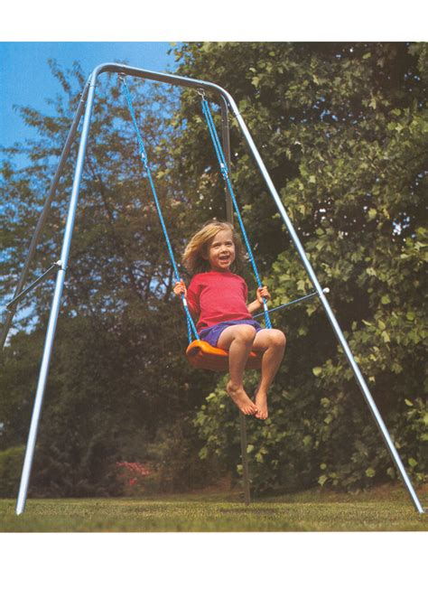 single swing and slide garden swing single prop hire and deliver