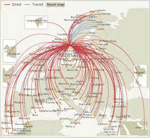 Norwegian Airlines Route Map by Norwegian Air Shuttle Route Map From Oslo Gardermoen