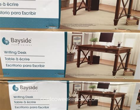bayside furnishings writing desk bayside furnishings writing desk costco weekender