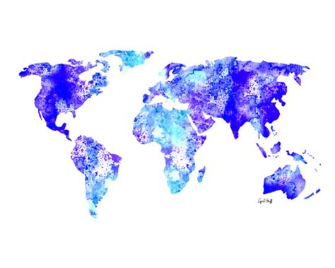 Sticker Quotes For Walls watercolor world map print wall art painting