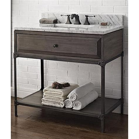Htons Style Bathroom Vanity by Fairmont Designs 36 Quot Toledo Open Shelf Vanity Driftwood