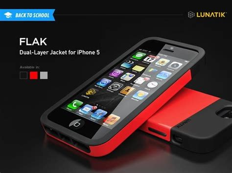 Best Quality Lunatik Flak Dual Layer Jacket Softcase Iphone 6 Black dt deals 20 gets your iphone 5 a layer jacket for fall digital trends