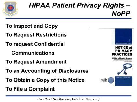 Hipaa Privacy Rights Hipaa