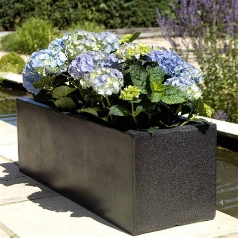 Garden Pots Planters by Cadix Low Rectangular Trough Planter Garden