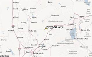 nevada city regional map