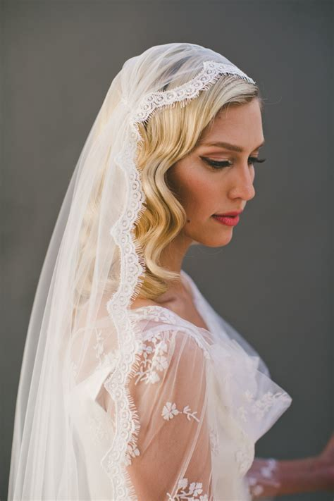Wedding Hair With Fringe And Veil by Cap Veil Eyelash Fringe Lace Juliet Cap Wedding Veil Single