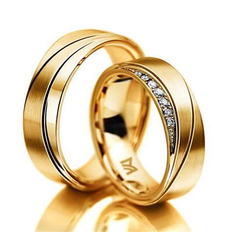 Hochzeitsringe Gelbgold by Hochzeitsringe Meister Plastisch Gelbgold Gold Gelbgold