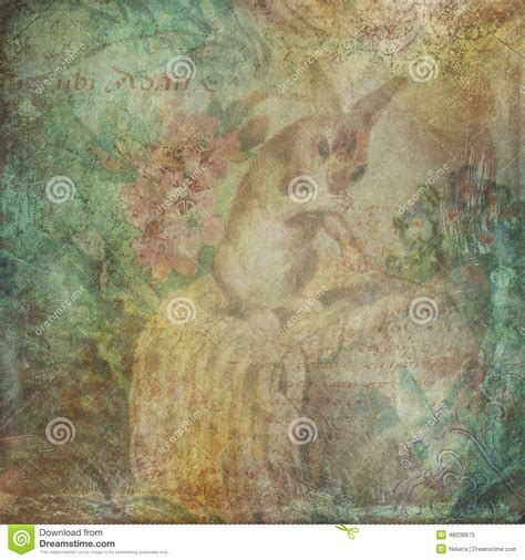 vintage easter background stock illustration image of
