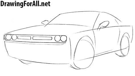 how to draw a jaguar car drawingforall net how to draw a dodge challenger drawingforall net