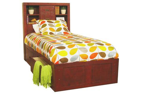 red twin bed red twin captains bed at gardner white