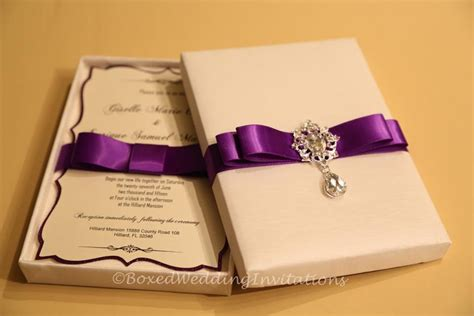 purple wedding invitations boxes inspirational boxed wedding invitations boxed wedding