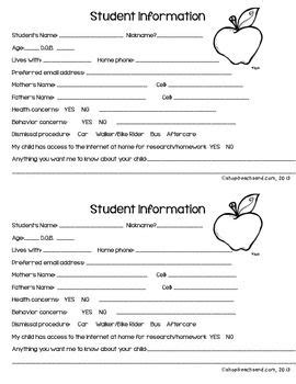 free templates for info cards for students card clipart student information pencil and in color