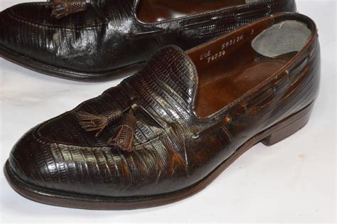 vintage mens loafers footjoy reptile tassel loafers classic vintage apparel