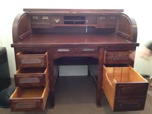 Mahogany Desks For Sale by 1940 S Standard Mahogany Roll Top Desk For Sale Antiques