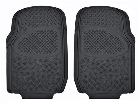 Plate Floor Mats by 2pc Front Row Plate Rubber Floor Mats For Car Hd All Weather Black Ebay
