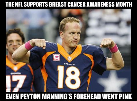 Manning Memes - the nfl and peyton manning go pink for breast cancer