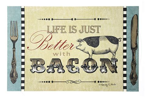 How To Make Paper Placemats - quot is just better with bacon quot paper placemats