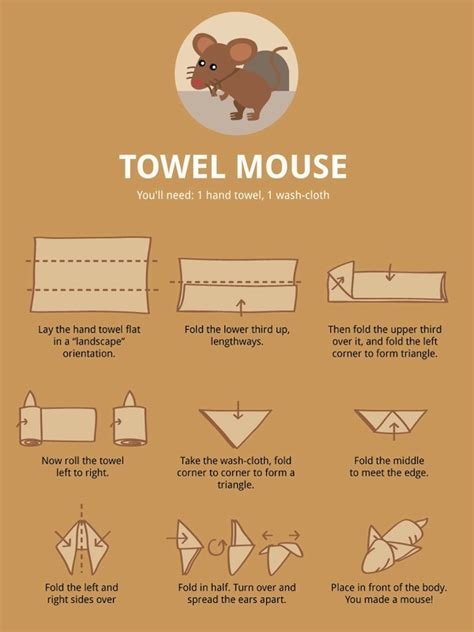 How To Fold Origami Animals - towel folding infographics fold towels towels and shapes