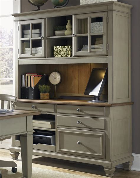 credenza desk with hutch liberty furniture bungalow jr executive credenza with