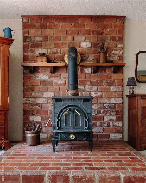 idea for wood furnace design wood burning stove hearth ideas wood stove on brick