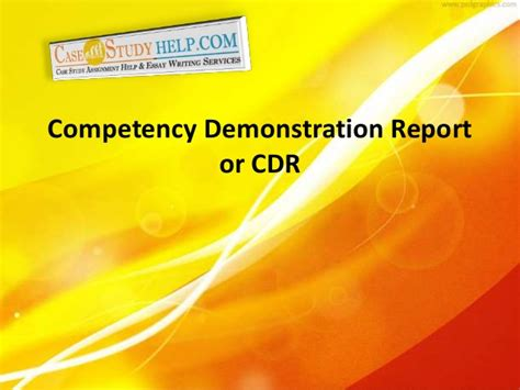 competency demonstration report sle competency demonstration report or cdr