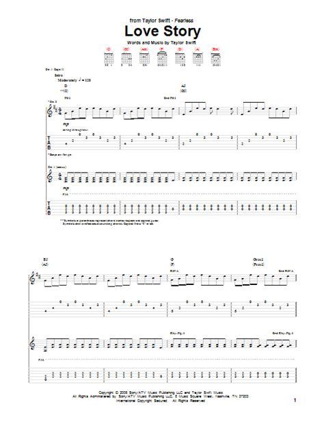 tutorial guitar love story love story guitar tab by taylor swift guitar tab 72901