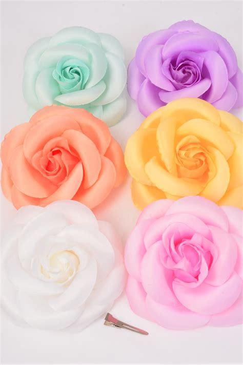 Pastel Jumbo flower silk tea jumbo pastel color asst dz pastel
