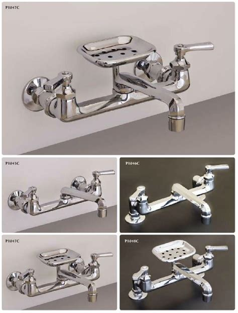 wall mount faucet for a kitchen sink handsome design