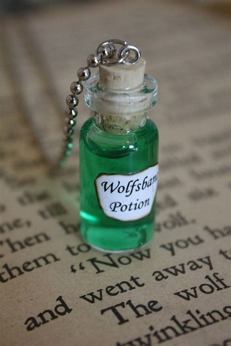 wolfsbane vial necklace vial necklace wolfsbane and