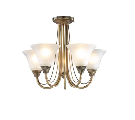 swan low ceiling 5 light antique brass ceiling fitting