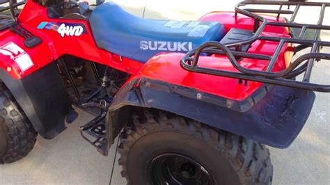 1991 Suzuki Quadrunner 1991 Suzuki 250 Quadrunner 4x4 I A Question