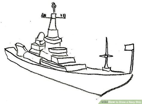 how to draw a navy boat how to draw a navy ship 9 steps with pictures wikihow