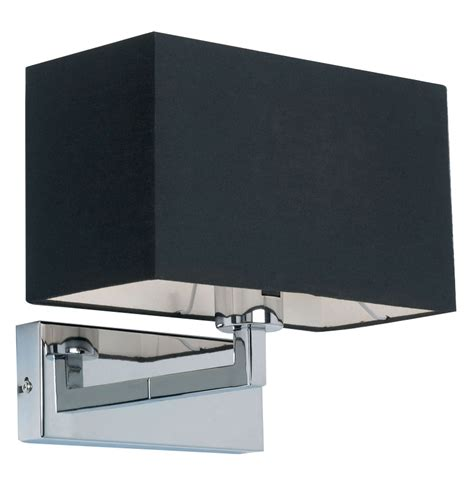 appliques murales chambre endon piccolo switched wall light with black shade polished chrome 96750 ch from easy lighting