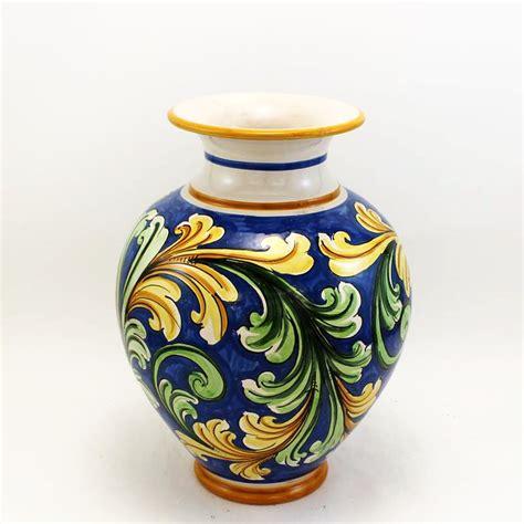 vasi in ceramica vaso in ceramica di caltagirone mod portafiori cm 30