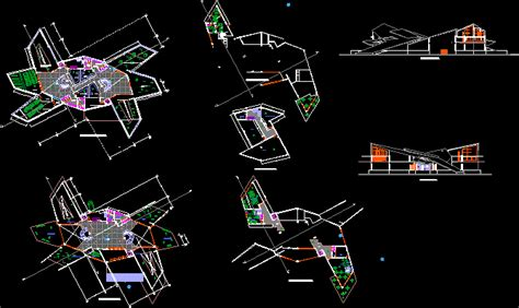 modern art museum dwg section  autocad designs cad