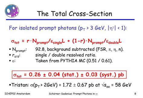 total cross section ppt isolated prompt photon production in photon photon