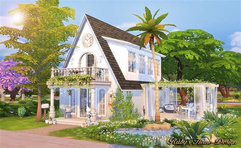 Beach Cottage Home Decor sims4 white jasmine ruby s home design
