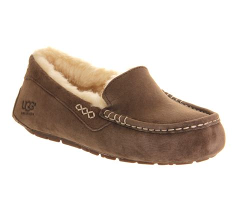 ugg slippers ansley ugg ansley slippers in brown lyst