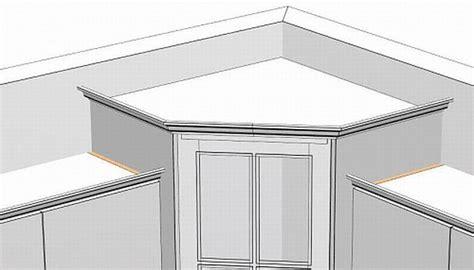 Standard Kitchen Corner Cabinet Sizes Crown Transitions For Corner Cabinets