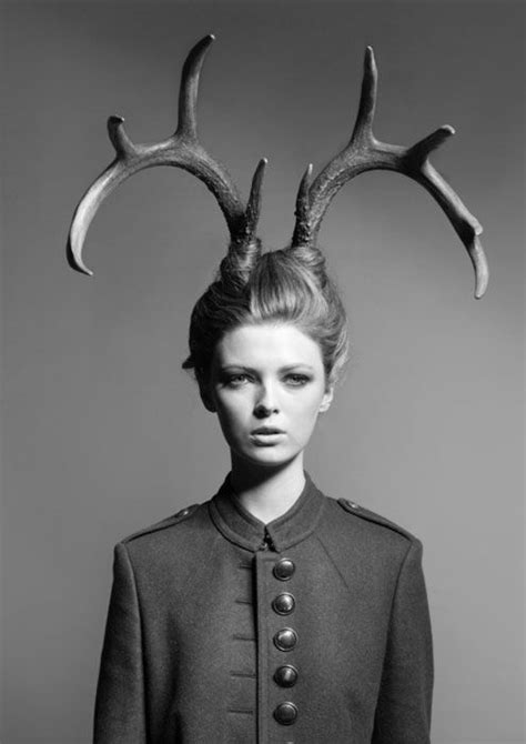 antler head. I finally know how to do my hair when I dress