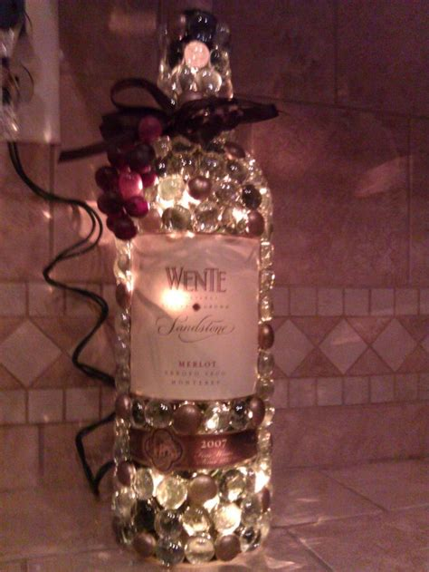 decorated wine bottles with lights inside 12 best images about wine bottles on pinterest glass