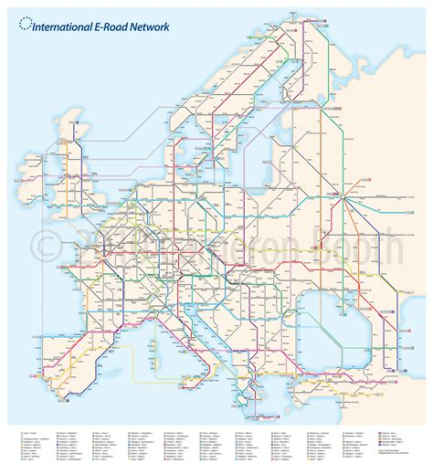 road map of europe project european e road system as a subway diagram