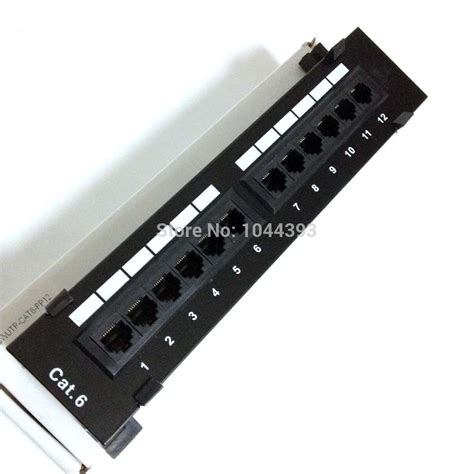 cat6 rack mount patch panel network 10 inch mini patch panel cat6 12ports patch panel