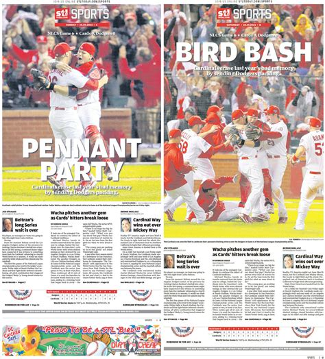 st louis post dispatch st louis sports news baseball chionship pages from the st louis post