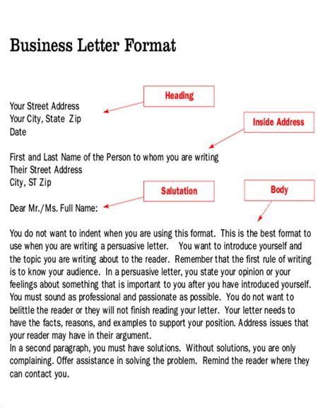 Business Letter Format Persuasive Sle Persuasive Business Letter 7 Exles In Word Pdf